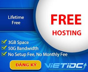 Free hosting của VietIDC